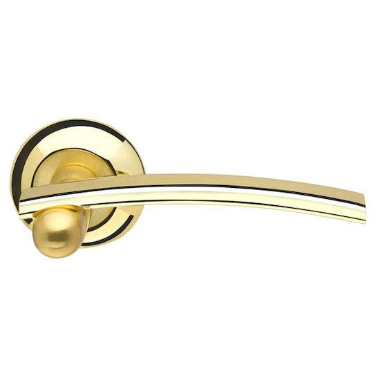 Дверная ручка Armadillo Mercury LD22-1GP-SG-5 золото/матовое золото в Симферополе.