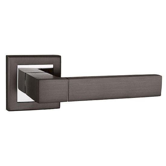 Ручка дверная Punto STYLE QL GR-CP-23 графит/хром в Симферополе