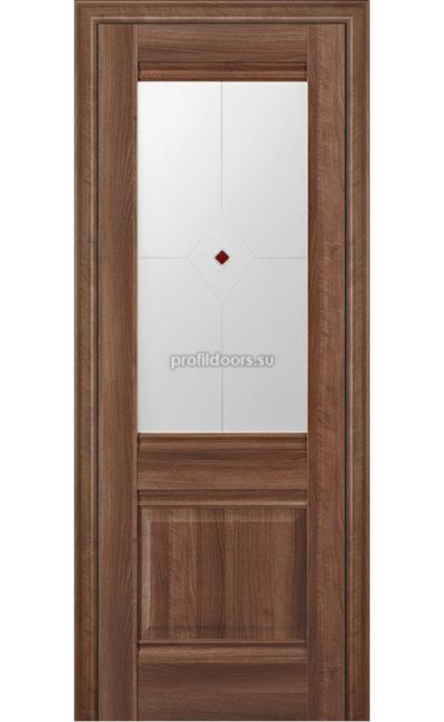 Двери Профильдорс, модель 2Х Орех сиена, узор 1 (х классика) в Крыму
