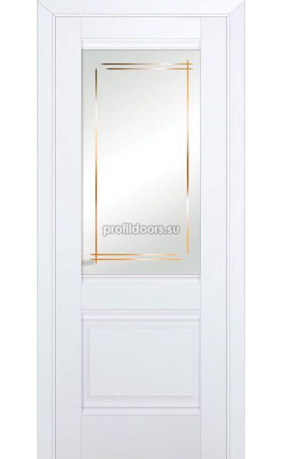 Двери Профильдорс, модель 2U аляска стекло мадрид (U классика) в Крыму