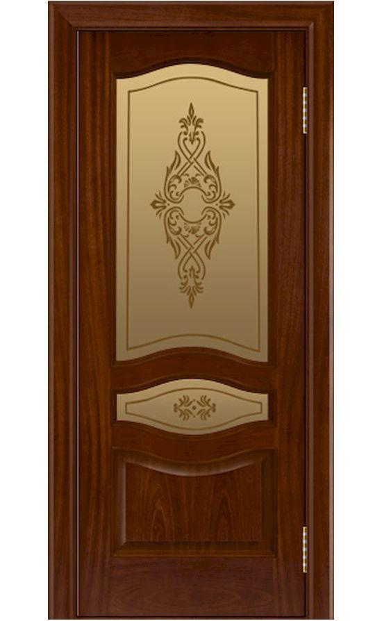 Двери ЛайнДор - Амелия Тон 10 Сапеле стекло