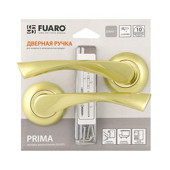 Дверная ручка Fuaro PRIMA RM-HD SG-GP-4 матовое золото/золото в Симферополе.
