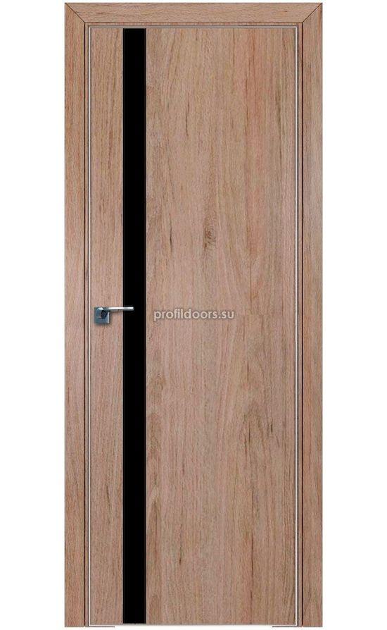 Двери Профильдорс, модель 6ZN салинас светлый, черный лак (серия ZN ABS) в Крыму