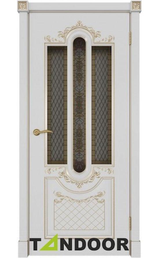Купить двери Александрия-2 Эмаль слоновая кость стекло в Симферополе