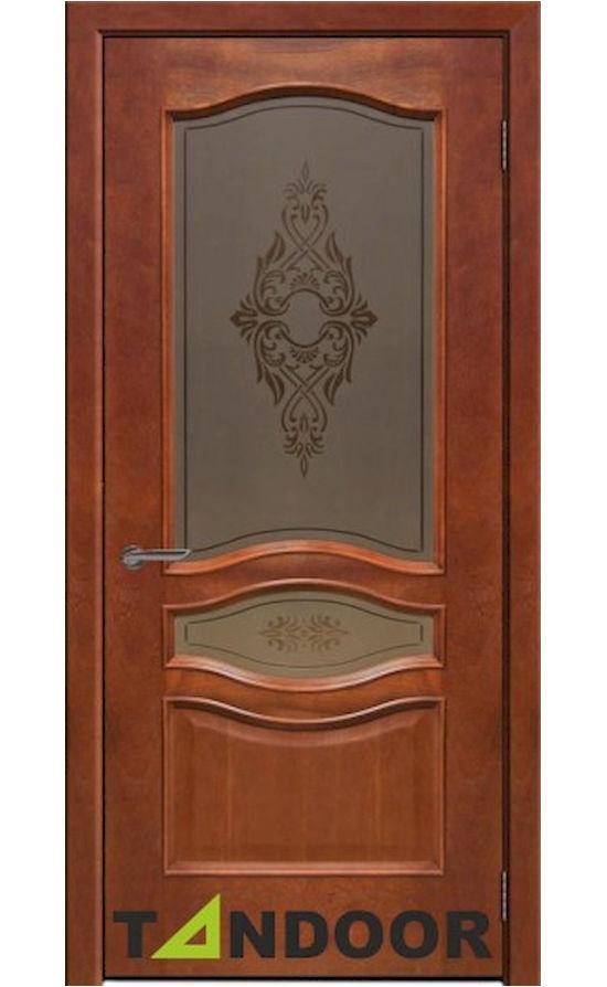 Купить двери Амелия Красное Дерево стекло в Симферополе