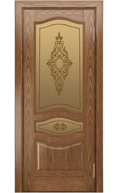 Двери ЛайнДор - Амелия Тон 45 Дуб натуральный стекло