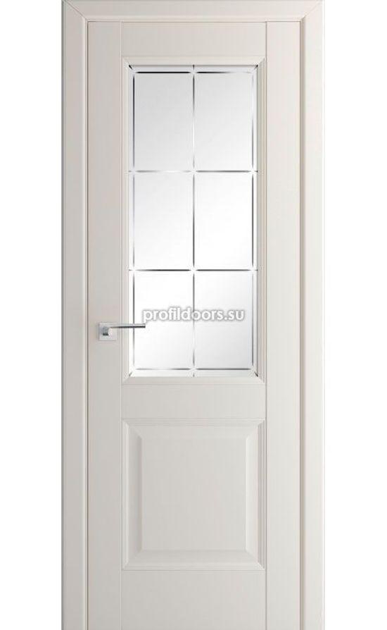Двери Профильдорс, модель 90U магнолия сатинат гравировка (U классика) в Крыму