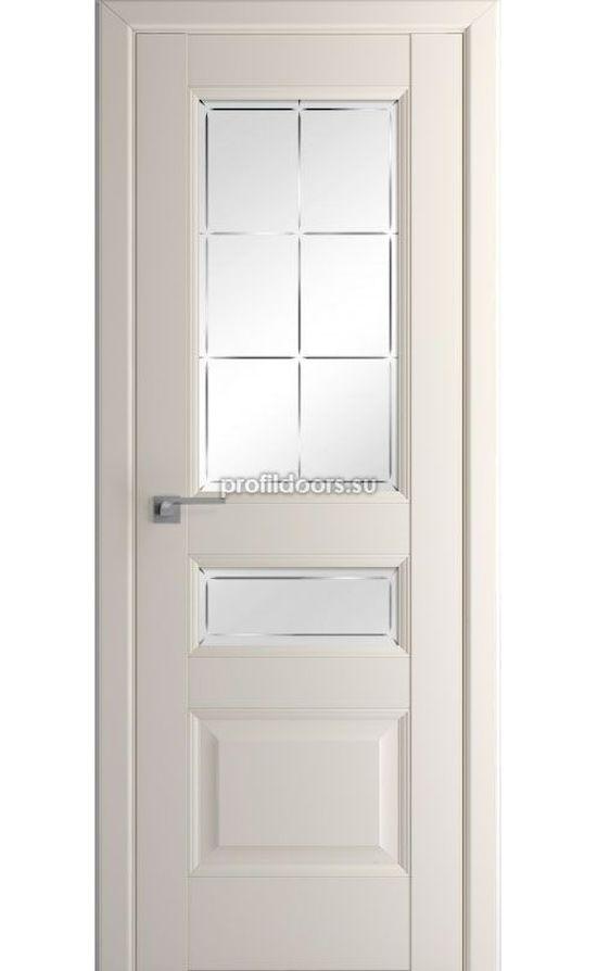 Двери Профильдорс, модель 94U магнолия сатинат гравировка (U классика) в Крыму
