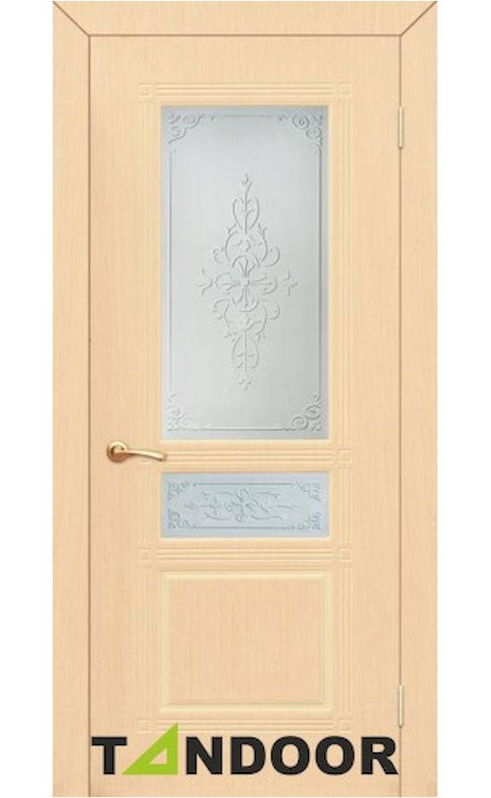 Купить двери Троя Беленый дуб стекло в Симферополе
