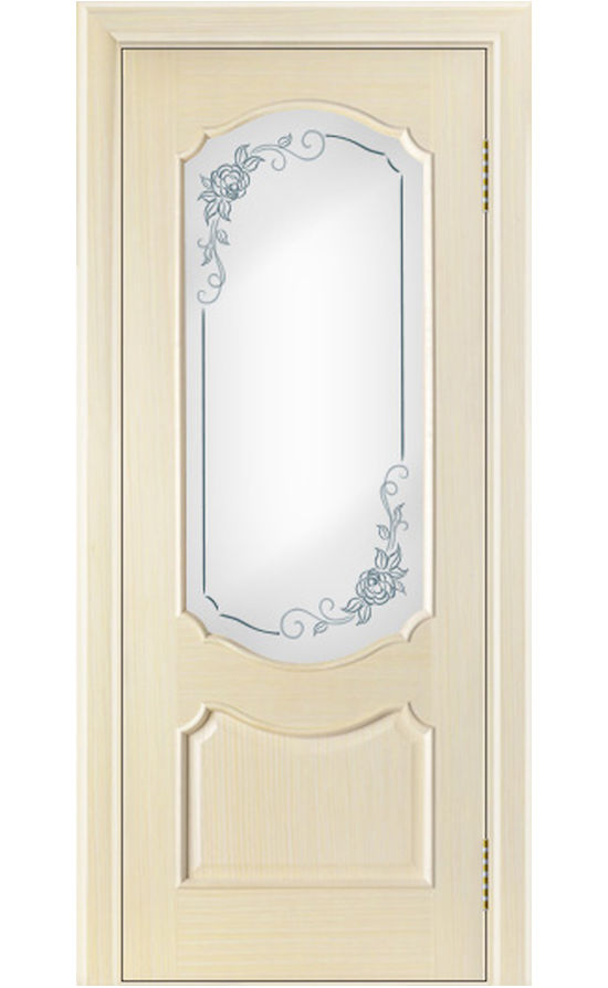 Двери ЛайнДор - Богема Тон 16 Беленый дуб стекло