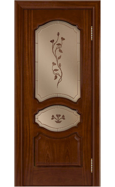 Двери ЛайнДор - Верда Тон 10 Сапеле стекло