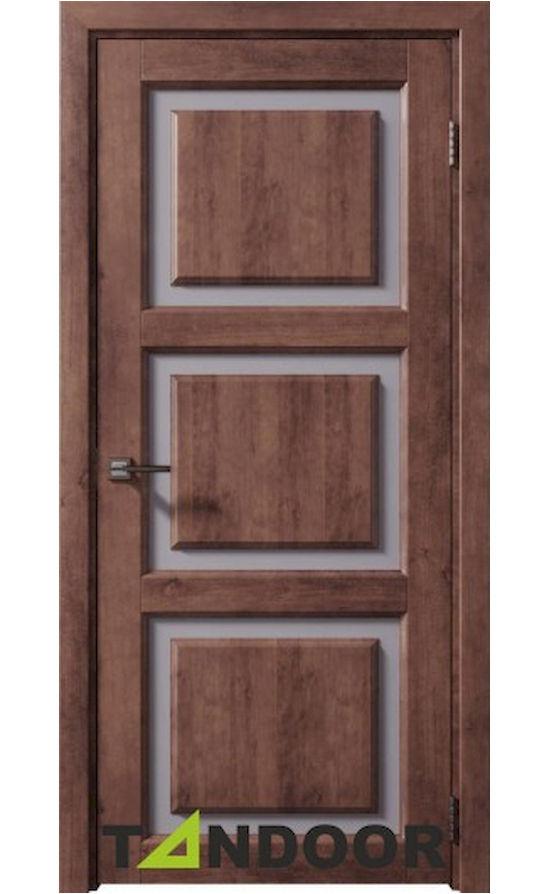 Купить двери Трио бреннерский орех стекло в Симферополе