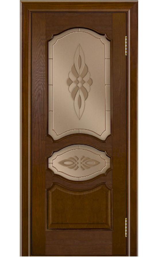 Двери ЛайнДор - Верда Тон 30 Шоколад стекло