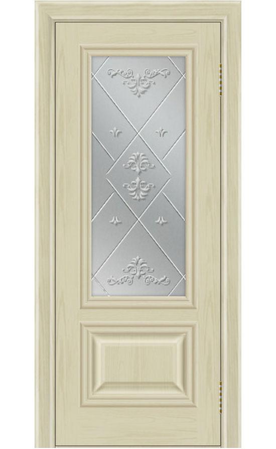 Двери ЛайнДор - Виолетта Тон 36 слоновая кость стекло