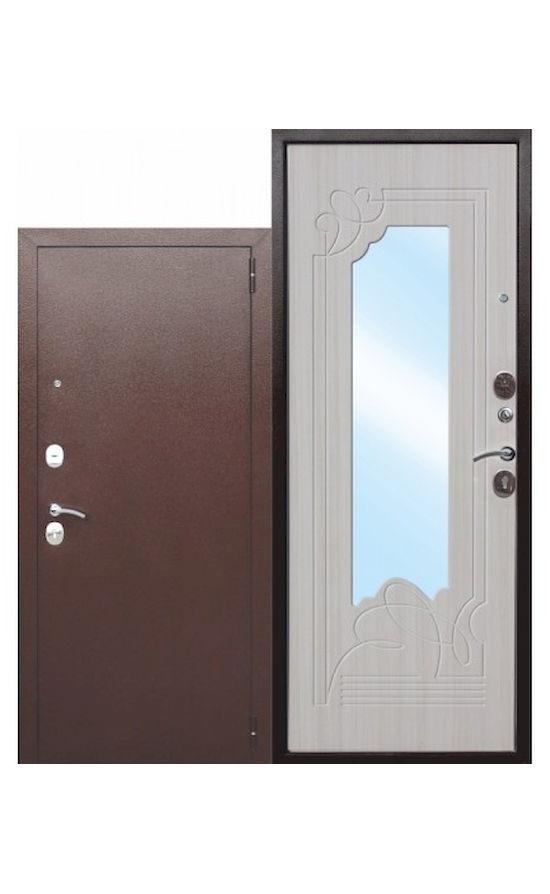 Входная дверь с зеркалом Ампир Белый ясень в Симферополе.