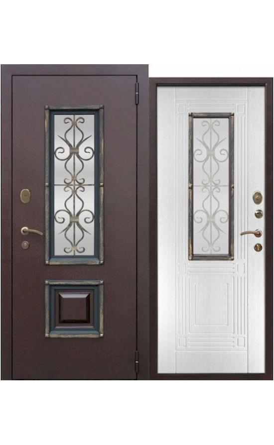Дверь со стеклопакетом Венеция Белый ясень в Симферополе.