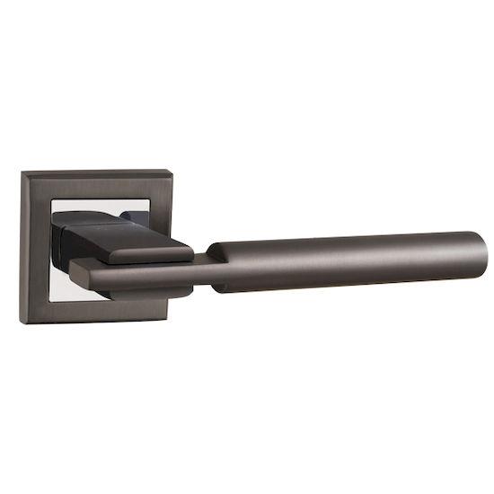 Ручка дверная Punto CITY QL GR-CP-23 графит/хром в Симферополе