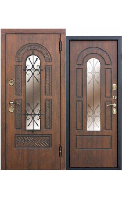 Дверь со стеклопакетом и ковкой Vikont в Симферополе.