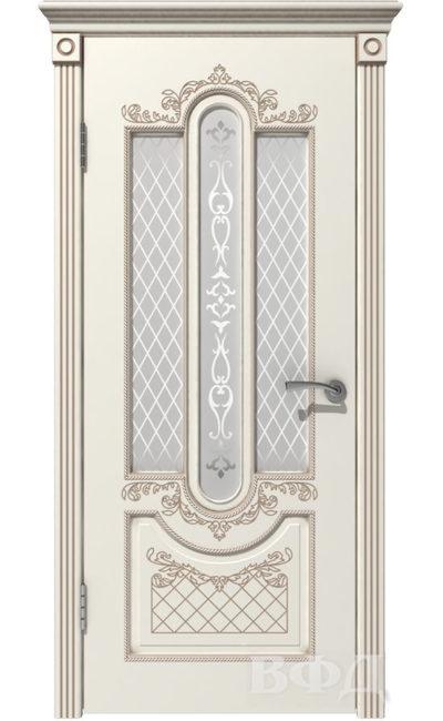 Двери от ВФД - Александрия эмаль слоновая кость патина капучино стекло белое в Симферополе.