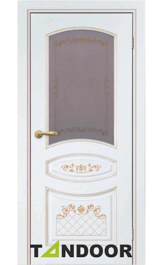 Купить двери Алина-2 Эмаль слоновая кость стекло в Симферополе