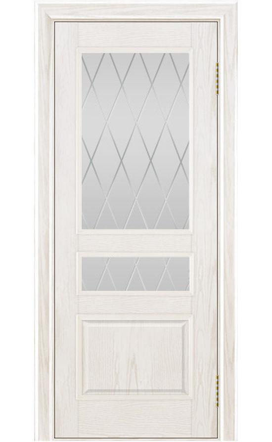 Двери ЛайнДор - Калина Тон 38 Белый стекло