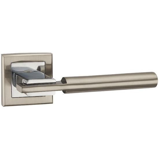 Ручка дверная Punto CITY QL SN-CP-3 матовый никель/хром в Симферополе