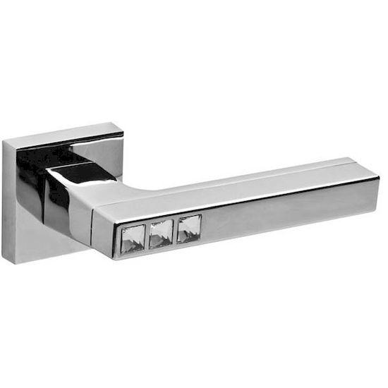 Дверная ручка Fuaro CRYSTAL FLASH DM-HD CP-8 хром в Симферополе.