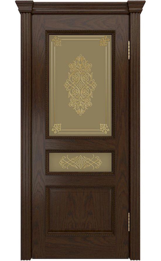 Двери ЛайнДор - Калина-ПН Тон 30 Шоколад стекло