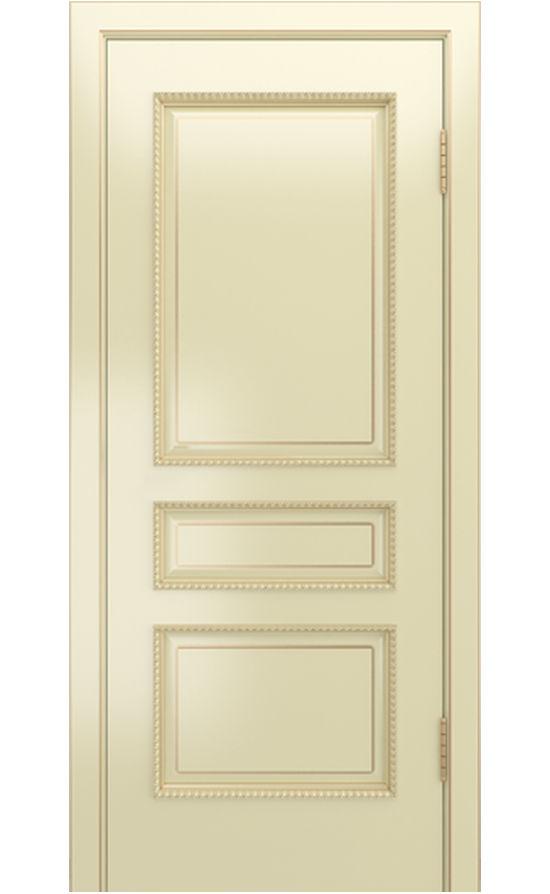 Двери ЛайнДор - Калина-ПН эмаль бисквит патина золото