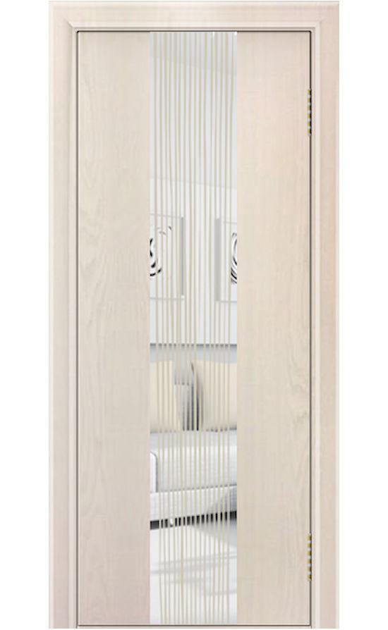Двери ЛайнДор - Камелия К 4 Тон 27 Жемчуг зеркало Водопад с 2-х сторон