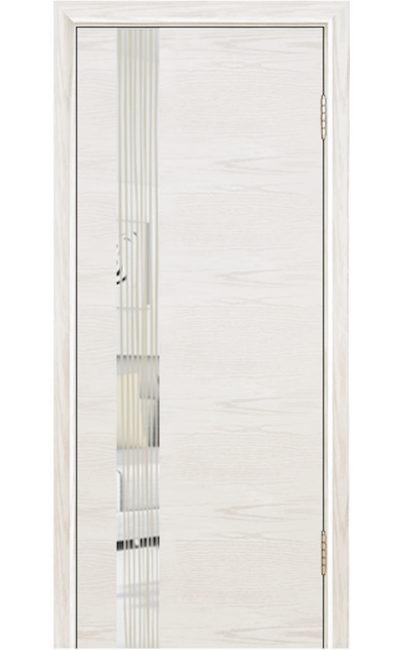 Двери ЛайнДор - Камелия К5 Тон 38 Белый зеркало Водопад