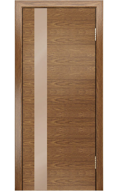 Двери ЛайнДор - Камелия К5 Тон 45 Дуб светло-коричневое остекление