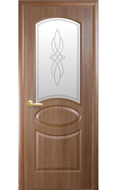 Купить двери Овал ДО (золотая ольха) в Симферополе