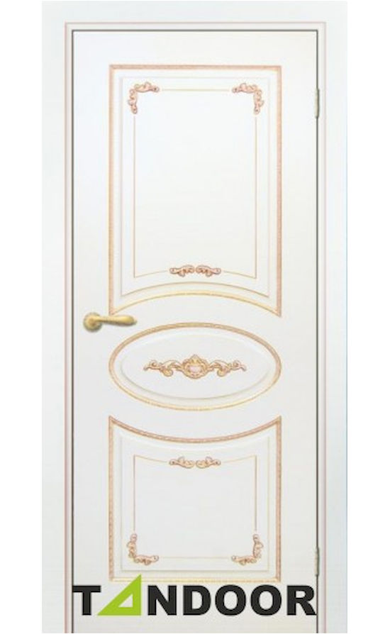 Купить двери Амелия-2 Эмаль слоновая кость патина золото в Симферополе