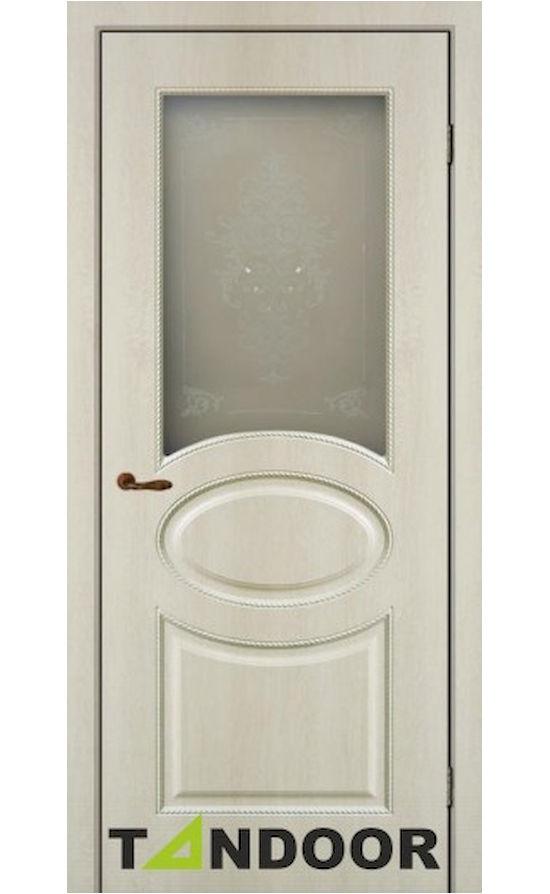 Купить двери К-1 Крем стекло в Симферополе