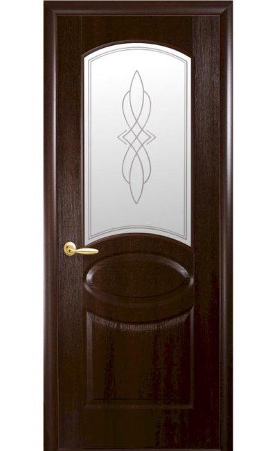 Купить двери Овал ДО (каштан) в Симферополе