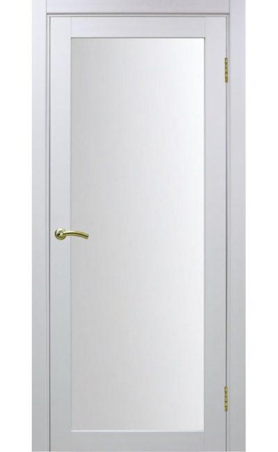 Дверь Оптима Порте - Турин 501 (белый, стекло) в Симферополе