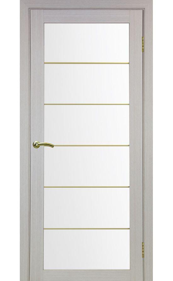 Дверь Оптима Порте - Турин 501 АСС Молдинг SG (дуб беленый) в Симферополе