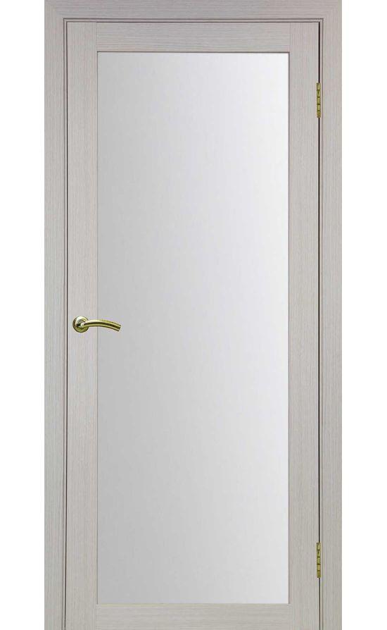 Дверь Оптима Порте - Турин 501 (дуб беленый, стекло) в Симферополе