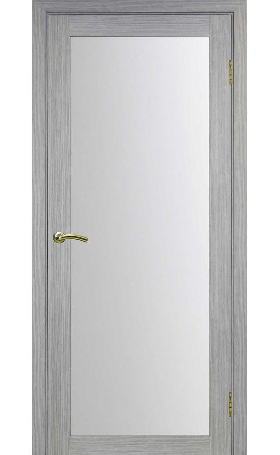 Дверь Оптима Порте - Турин 501 (дуб серый, стекло) в Симферополе