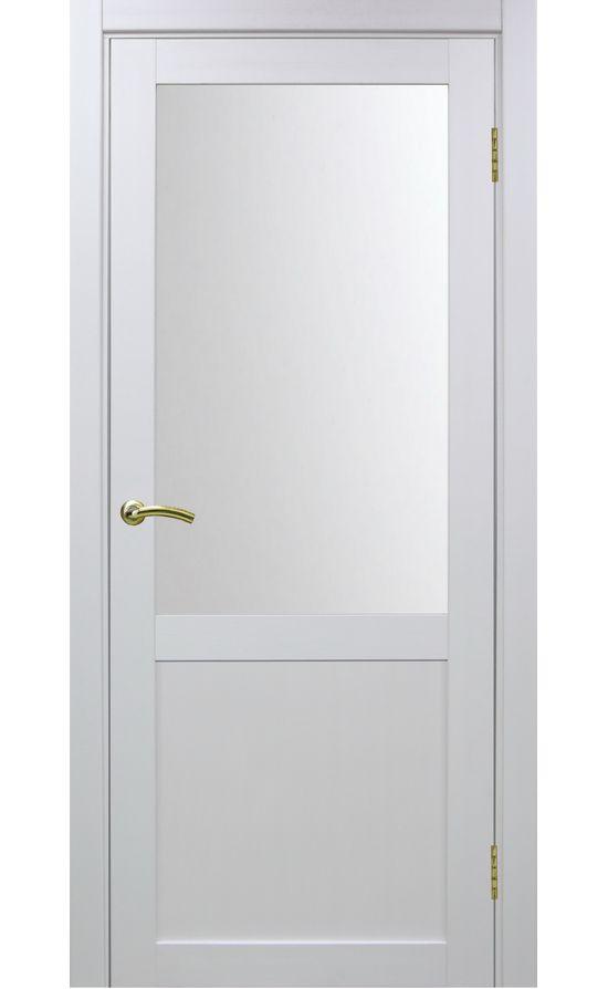 Дверь Оптима Порте - Турин 502 (белый, стекло) в Симферополе