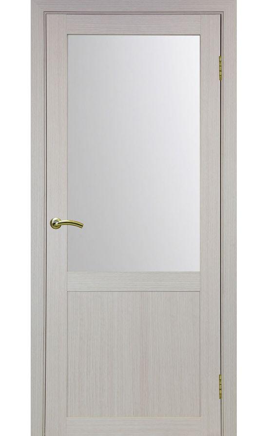 Дверь Оптима Порте - Турин 502 (дуб беленый, стекло) в Симферополе