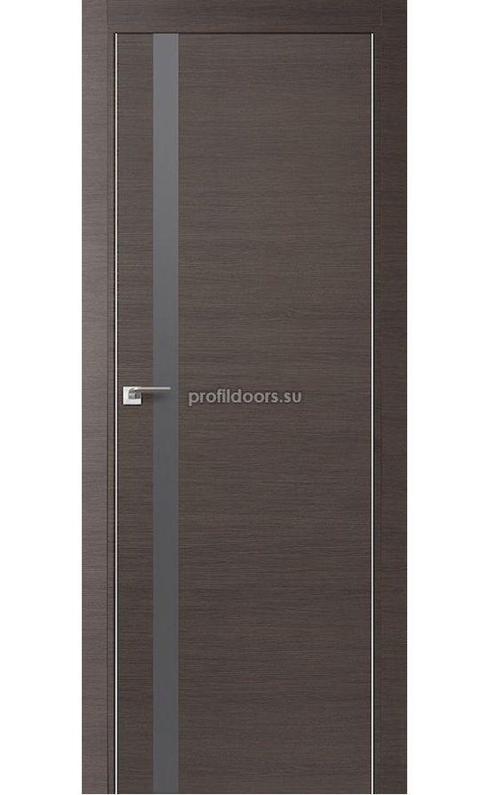 Двери Профильдорс, модель 6Z грей кроскут, серебрянный (серия Z) в Крыму
