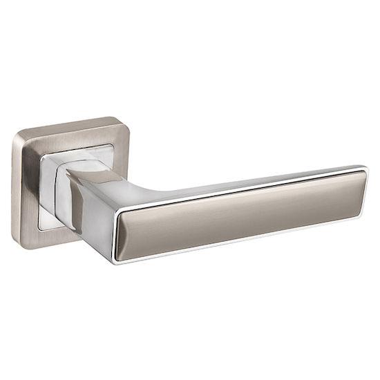 Дверная ручка Fuaro DENVER XM SN-CP-3 матовый никель/хром в Симферополе.