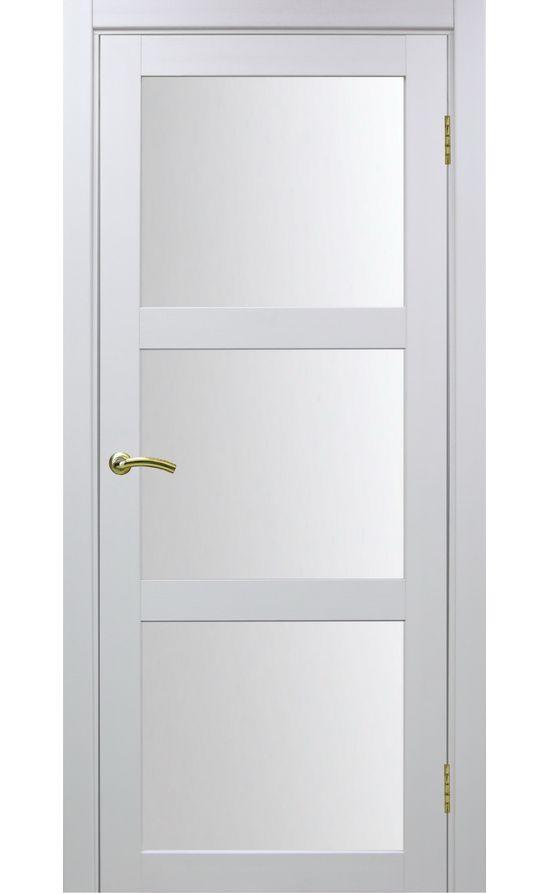 Дверь Оптима Порте - Турин 530 (белый, стекло) в Симферополе
