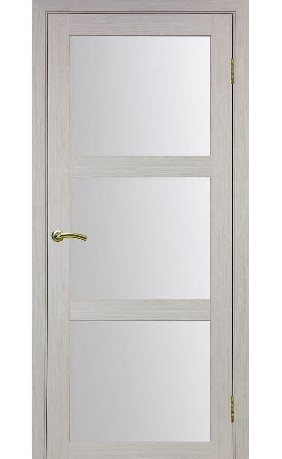 Дверь Оптима Порте - Турин 530 (дуб беленый, стекло) в Симферополе