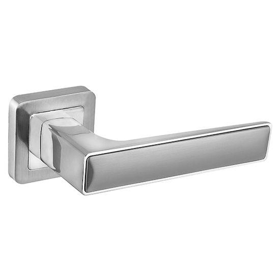Дверная ручка Fuaro DENVER XM SSC-CP-16 сатинированный хром/хром в Симферополе.