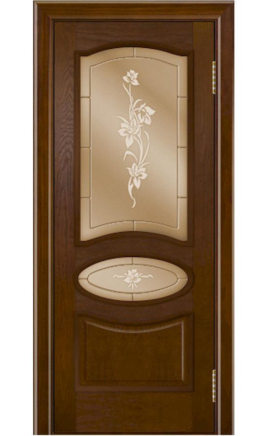 Двери ЛайнДор - Оливия Тон 30 Шоколад стекло