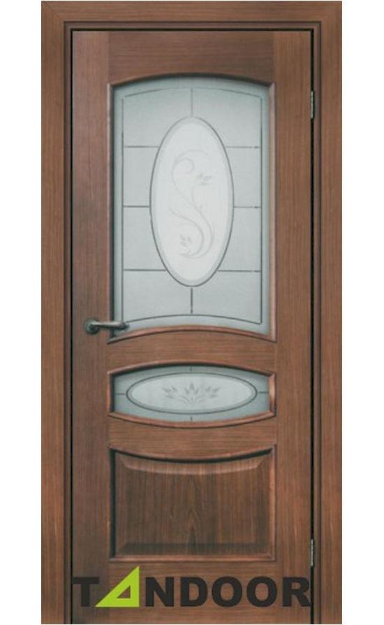 Купить двери Афина Орех стекло в Симферополе