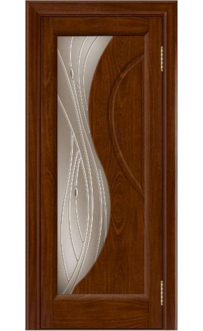 Двери ЛайнДор - Прага 2 Тон 10 Сапеле стекло
